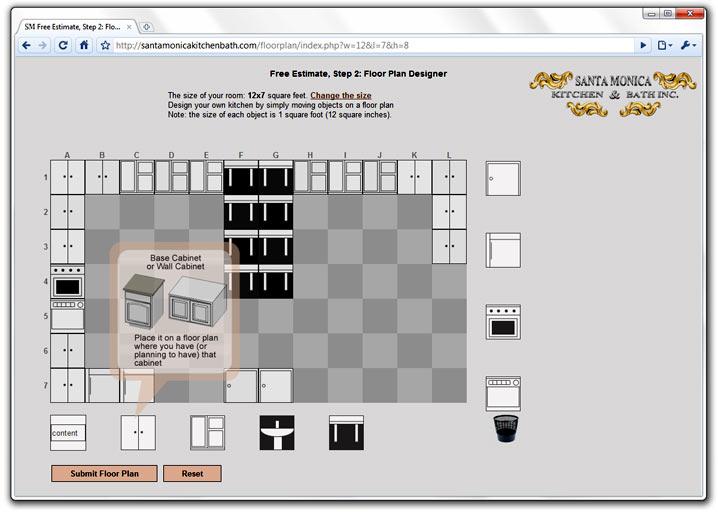 Kitchen Floor Plan Designer for Santa Monica Kitchen & Bath Inc ...